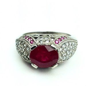 Ruby Ring in Sterling Setting 6.5